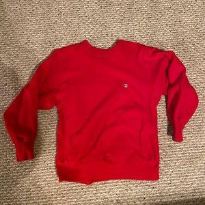 Vintage Red Champion Crewneck Sweatshirt